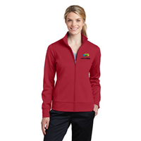 Sport-Tek Ladies Sport-Wick Fleece Full-Zip Red