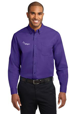 Long Sleeve Easy Care Shirt Purple