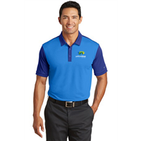 Nike Golf Dri-FIT Colorblock Polo Blue