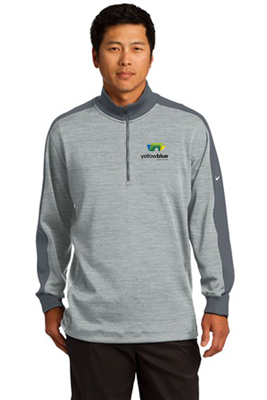 Nike Golf Dri FIT Half Zip Cover Up Grey Heather