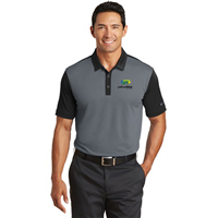 Nike Golf Dri-FIT Colorblock Polo Grey