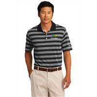 Nike Golf Dri-FIT Tech Stripe Polo Black