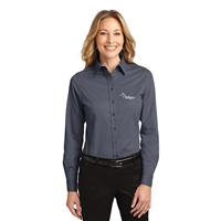 Ladies Easy Care Shirt Steel Grey