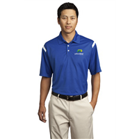 Nike Golf Dri FIT Shoulder Stripe Polo Royal