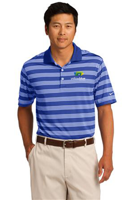 Nike Golf Dri-FIT Tech Stripe Polo Royal