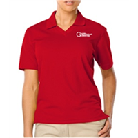 Womens Red Polo