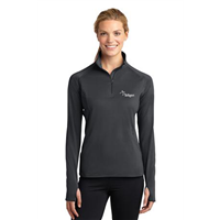 Ladies Sport Wick 1/4 Zip Charcoal