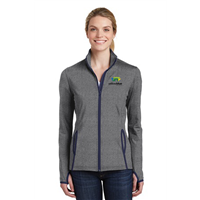 Sport-Tek Ladies Contrast Full-Zip Charcoal