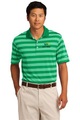 Nike Golf Dri-FIT Tech Stripe Polo Green