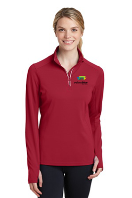 Sport-Tek Ladies Sport-Wick 1/4 Zip Pullover Red