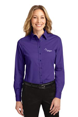 Ladies Easy Care Shirt Purple