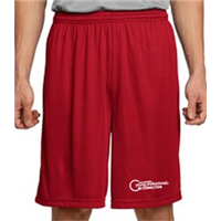 Performance Wicking Shorts - White on Red