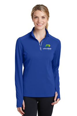 Sport-Tek Ladies Sport-Wick 1/4 Zip Pullover Royal