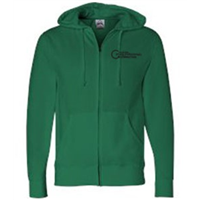 Zip Up - Black on Kelly Green