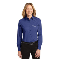 Ladies Easy Care Shirt Mediterranean Blue