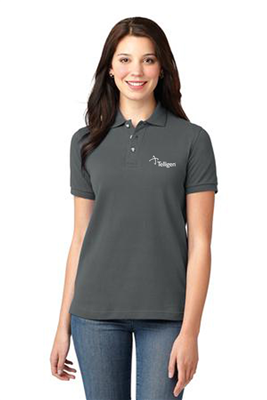Ladies Short Sleeve Polo Steel Grey