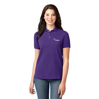 Ladies Short Sleeve Polo Purple