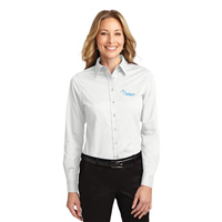 Ladies Easy Care Shirt White
