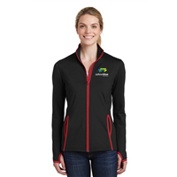 Sport-Tek Ladies Contrast Full-Zip Red