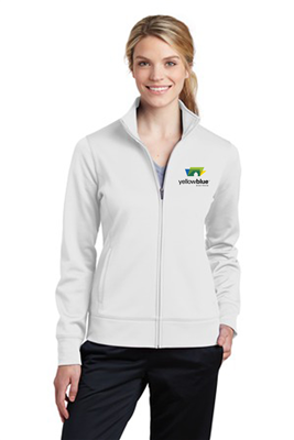 Sport-Tek Ladies Sport-Wick Fleece Full-Zip White
