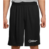 Performance Wicking Shorts - White on Black