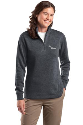 Ladies 1/4 Zip Sweatshirt Graphite Heather
