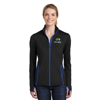 Sport-Tek Ladies Contrast Full-Zip Royal