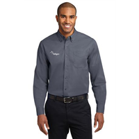 Long Sleeve Easy Care Shirt Steel Grey