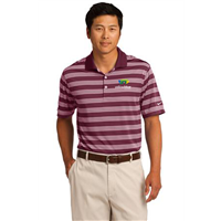 Nike Golf Dri-FIT Tech Stripe Polo Red